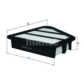 MAHLE ORIGINAL Air filter (LX 3778)