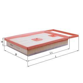 MAHLE ORIGINAL Elemento filtro de aire (LX 4136)
