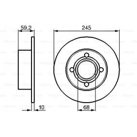 Bremsscheibe (0 986 478 019) hertseller BOSCH für AUDI 80 2.0 E 16V 140 PS Baujahr 02.1993 günstig