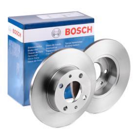 BOSCH Disco de travão Eixo traseiro, Eixo dianteiro, Ø: 227,5mm, Cheio, oleado 0 986 478 063 de qualidade original