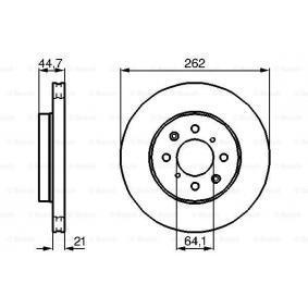 BOSCH 0 986 478 174 Спирачен диск OEM - 45251SK7A00 HONDA, MG, ROVER, LOTUS, ACURA, AKEBONO, LAND ROVER, A.B.S., NPS евтино