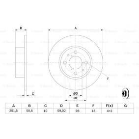 Cuerpo de mariposa (0 986 478 238) fabricante BOSCH para FIAT STILO 1.6 16V (192_XB1A) 103 CV año de fabricación 10.2001 beneficioso