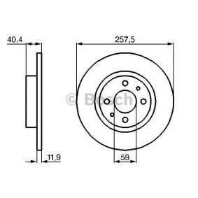 BOSCH FIAT 500 Discos de freno (0 986 478 343)