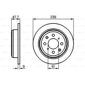 Ключ(бутон), стъклоповдигане BOSCH (0 986 479 101) за HONDA JAZZ Цени