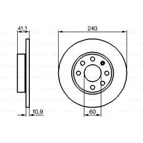 Bremsscheiben (0 986 479 189) hertseller BOSCH für OPEL CORSA 1.2 75 PS Baujahr 09.2000 günstig