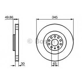 Спирачен диск BOSCH Art.No - 0 986 479 204 OEM: 1K0615301AB за VW, AUDI, SKODA, SEAT купете