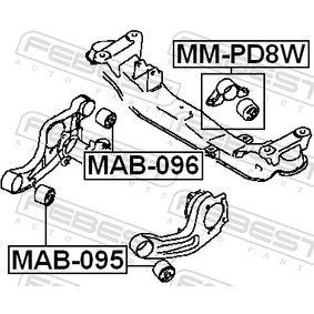 FEBEST Lagerung, Differential 5105309AB für CHRYSLER bestellen