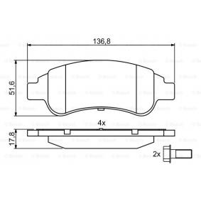 BOSCH Brake Pad Set, disc brake 0 986 494 027