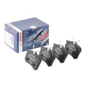 Bremsbelagsatz, Scheibenbremse BOSCH Art.No - 0 986 494 399 OEM: 1J0698451N für VW, AUDI, FORD, RENAULT, FIAT kaufen