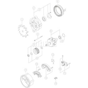 Generator MAHLE ORIGINAL Art.No - MG 216 OEM: 24161 für ROVER kaufen
