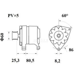 Генератор MG 420 MAHLE ORIGINAL