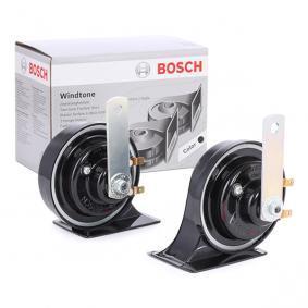 BOSCH Horn schwarz elektrisk-pneumatisk 0 986 AH0 503 av original kvalitet