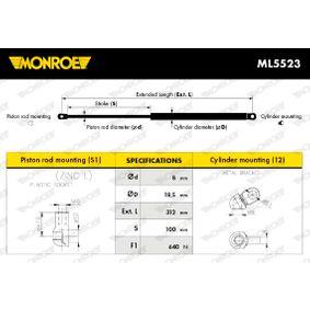 51248171480 für BMW, Heckklappendämpfer / Gasfeder MONROE (ML5523) Online-Shop
