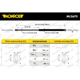 MONROE Heckklappendämpfer / Gasfeder (ML5670) niedriger Preis