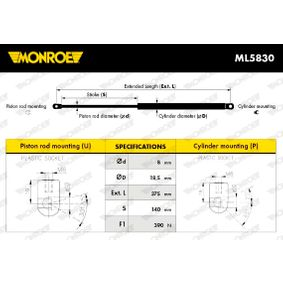 MONROE Heckklappendämpfer / Gasfeder (ML5830) niedriger Preis