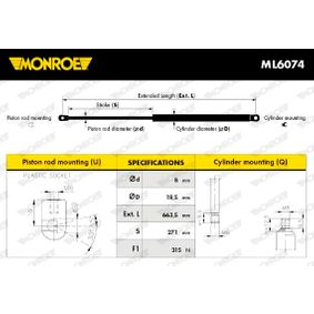 MONROE Motorhaubendämpfer ML6074