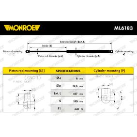MONROE Amortiguadores puerta trasera ML6183