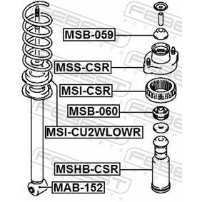 FEBEST Distanziale a tubo, Ammortizzatore MR594613 per HYUNDAI, KIA, VOLVO, MITSUBISHI, CHRYSLER acquisire