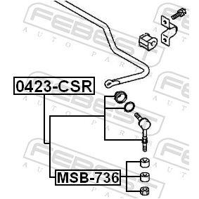 FEBEST Lagerung, Achsstrebe MR476595 für MITSUBISHI bestellen