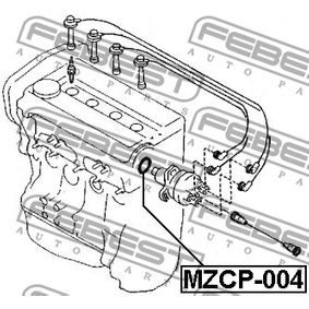 Zündverteiler und Einzelteile MZCP-004 FEBEST