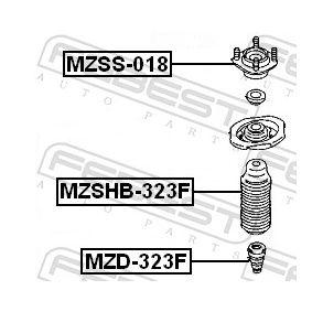 Anschlaggummi & Staubmanschette MZSHB-323F FEBEST