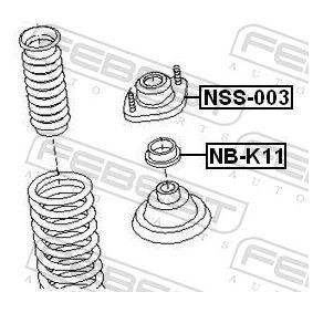 Βάση στήριξης αμορτισέρ NB-K11 FEBEST