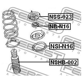 Βάση στήριξης αμορτισέρ NB-N16 FEBEST