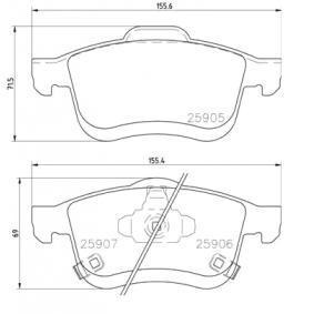 Bremsbelagsatz, Scheibenbremse BREMBO Art.No - P 23 167 OEM: 68211488AA für FIAT kaufen