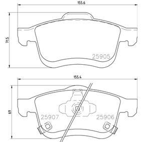 BREMBO Bremsbelagsatz, Scheibenbremse 68211488AA für FIAT bestellen