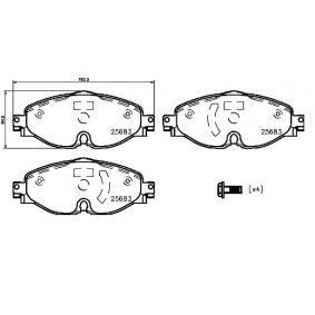 BREMBO P 85 147 Kit de plaquettes de frein, frein à disque OEM - 5Q0698151D AUDI, SEAT, SKODA, VW, VAG, VW (SVW) à bon prix