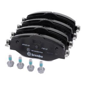 BREMBO Kit de plaquettes de frein, frein à disque (P 85 147) à bas prix