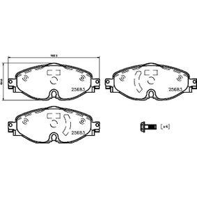 BREMBO Kit de plaquettes de frein, frein à disque P 85 147