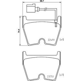 BREMBO Kit de plaquettes de frein, frein à disque (P 85 152) à bas prix