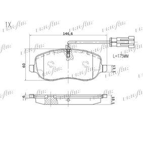 FRIGAIR Bremsbelagsatz, Scheibenbremse 77366761 für FIAT, ALFA ROMEO, LANCIA, FSO bestellen