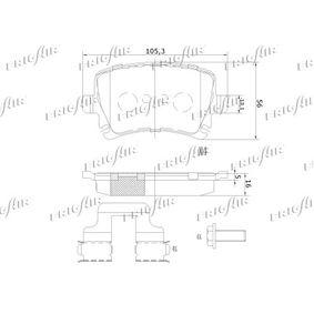 FRIGAIR Bremsbelagsatz, Scheibenbremse 1K0698451G für VW, AUDI, SKODA, SEAT, SMART bestellen