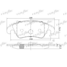 FRIGAIR Bremsbelagsatz, Scheibenbremse 8K0698151H für VW, AUDI, SKODA, SEAT, PORSCHE bestellen
