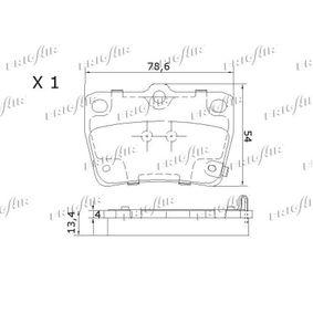 RAV 4 II (CLA2_, XA2_, ZCA2_, ACA2_) FRIGAIR Brake pad set disc brake PD15.514