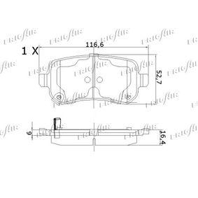 FRIGAIR Bremsbelagsatz, Scheibenbremse 68029887AA für MERCEDES-BENZ, FIAT, ALFA ROMEO, JEEP, CHRYSLER bestellen