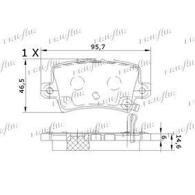 CIVIC VIII Hatchback (FN, FK) FRIGAIR Brake pad set disc brake PD19.504