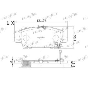 HONDA CIVIC VIII Hatchback (FN, FK) FRIGAIR Fékbetét készlet, tárcsafék PD19.505 vesz