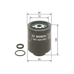 Filtro combustibile BOSCH 1 457 434 453 popolari per MITSUBISHI L 400 2.5 TD 4WD (PD5V/W) 99 CV