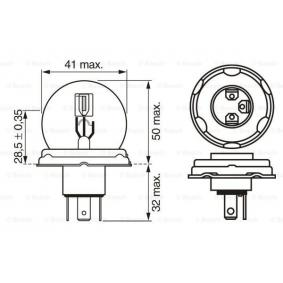 1 987 302 023 Bulb, spotlight from BOSCH quality parts