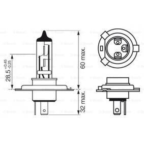 BOSCH Glühlampe, Fernscheinwerfer (1 987 302 045) niedriger Preis