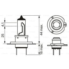 BOSCH Крушка с нагреваема жичка, фар за дълги светлини (1 987 302 071) на ниска цена