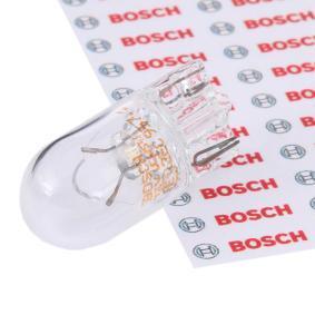 BOSCH Bulb, indicator W5W, 12V 1 987 302 206 original quality