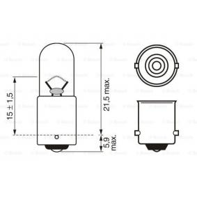 1 987 302 207 Bulb, indicator from BOSCH quality parts
