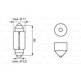1 987 302 211 Bulb, fog light from BOSCH quality parts