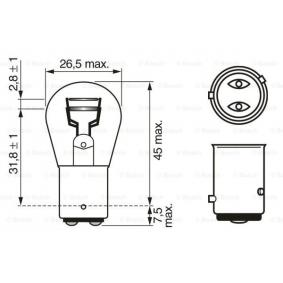 1 987 302 215 Bulb, brake / tail light from BOSCH quality parts