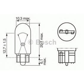 BOSCH Bulb, licence plate light 3165141238808 rating