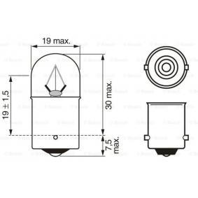 1 987 302 510 Bulb from BOSCH quality parts
